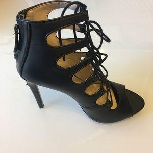 Zara lace up black heels size 6 1/2